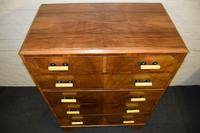 Lovely Walnut Art Deco Chest of Drawers (6 of 11)