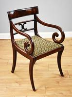 Set of 8 Antique Regency Style Mahogany Dining Chairs c.1900 (2 of 9)