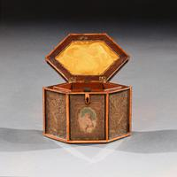 18th Century Georgian Paper Scrolled Quilled Satinwood Tea Caddy (6 of 6)