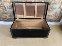 Leather & Brass Bound Camphor Wood Trunk (3 of 5)