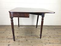 Antique 19th Century Mahogany Fold Over Side Table (10 of 14)