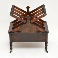 Antique Regency Rosewood Canterbury  Magazine Stand (12 of 12)