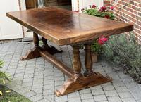 French Oak Farmhouse Dining Table Wonderful Colour & Patina