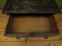 Antique Small Rustic Black Chest of Drawers (13 of 15)