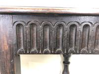 Small Antique Carved Oak Corner Table (3 of 7)