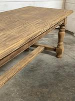 Nice Large Bleached Oak Farmhouse Dining Table With Extensions (9 of 35)