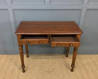 Victorian Mahogany 2 Drawer Side Table (6 of 12)