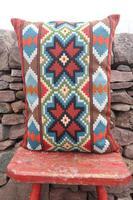 Swedish 'Folk Art' Vintage Large Woven Röllakan Cushion c.1930 (9 of 26)