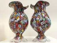 2 Beautiful Italian Murano Fratelli & Torso Millefiori Glass Vases (2 of 34)