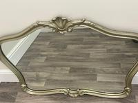 Beautiful French Regency Style Glass Silver Acanthus Crown Overmantle Mirror (5 of 23)