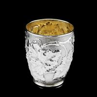 Antique Victorian Solid Silver Beaker / Cup with Superb Naturalistic Grapevine Design - Barnard 1871 (15 of 16)