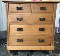 Arts And Crafts Glasgow Style antique 2 over 3 Chest of Drawers in Blond Oak (3 of 8)