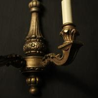 French Set of 4 Gilded Twin Arm Wall Lights (8 of 10)
