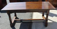 1960's Heavy Oak Refectory Table (4 of 6)