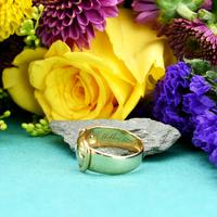 The Antique Victorian 1890 Gold & Diamond Buckle Ring (2 of 7)