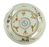 Mid 19th Century Porcelain Chinese Charger with Enamelled Decoration (3 of 5)