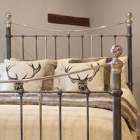 Charcoal Victorian Bed with Nickel Plating (6 of 11)