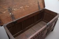 Early 18th Century Carved Oak Coffer with Three Panel Front (3 of 8)
