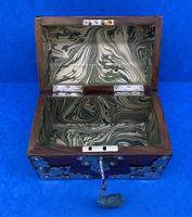 Victorian Brassbound Walnut Box c.1850 (8 of 10)