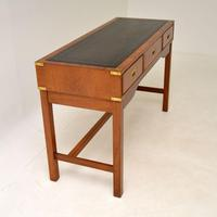 Antique Military Campaign Style Mahogany Writing Table / Desk (11 of 12)