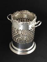 Edwardian Silver Plated Reticulated  Wine Bottle Holder (6 of 7)