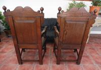 Pair of Victorian country oak wainscot chairs (Free shipping to Mainland England) (9 of 10)