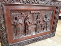 A 19thc Mahogany Carved Relief Panel Depicting Tudor Interior Scene (7 of 7)