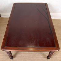 Large Library Desk Mahogany Leather 19th Century (8 of 9)