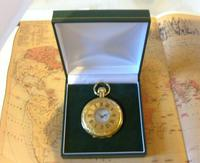 Vintage Pocket Watch 1970s Swiss County 17 Jewel 12ct Gold Plated FWO (12 of 12)