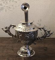 Unusual Victorian William Comyns Silver Oil Pourer c1892 (4 of 6)