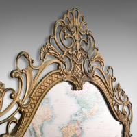 Large Antique Wall Mirror, Italian, Gilt Metal, Hall, Bedroom, Rococo, Victorian (8 of 12)