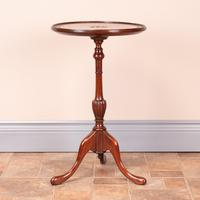 Mahogany Carved Top Wine Table (5 of 6)
