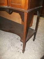 Bow Front Inlaid Mahogany Glazed Cabinet on Tapered Legs (6 of 6)