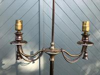 Pair of Antique Brass Floor Lamps (8 of 8)