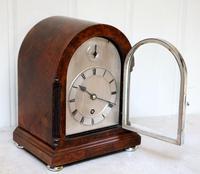 Burr Walnut Arch Top Bracket Clock (7 of 11)