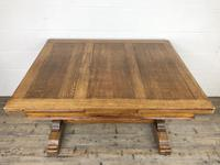 Early 20th Century Oak Draw Leaf Table (3 of 17)