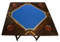 A Late Victorian Inlaid Rosewood Envelope Card Table (3 of 9)
