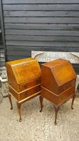 Lovely Antique Design Burr Walnut Bureau (9 of 9)