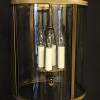 French Gilded Four Light Convex Hall Lantern (5 of 10)
