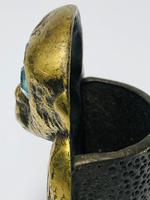 Small Brass Monkey Vesta Match Holder With Glass Eyes (9 of 17)
