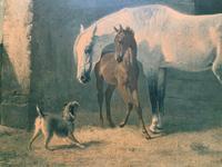 Aft: Emil Volkers Beautiful Vintage Framed Equestrian Print On Board (6 of 12)