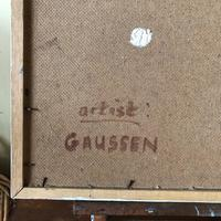 Impressionist Artist Gaussen - Oil on Board - Olive Trees c.1945 (8 of 9)