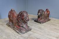 Pair of Mid Century Lion Ornaments