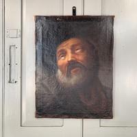 Antique Georgian oil painting portrait of elderly bearded gentleman (6 of 9)