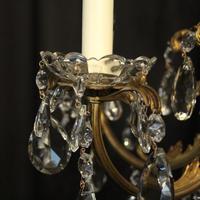 Italian Gilded Brass 5 Light Antique Chandelier (7 of 10)