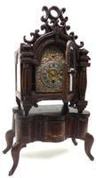 Unusual Rare 18th Century Austrian Verge Table Mantel Clock Pull Alarm (7 of 14)