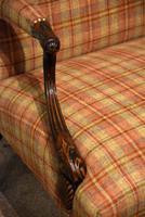 George I Style Walnut Gainsborough Armchair (5 of 8)