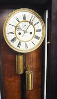 Great Antique German Twin Walnut 8-Day Mantel Clock Vienna Striking Wall Clock (11 of 11)