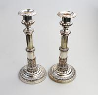 Mathew Boulton - Old Sheffield Silver Plate / Fused Plate Telescopic Candlesticks c.1800 (3 of 8)
