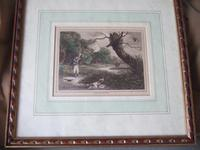 """Late 18th Century Etching """"Duck Shooting"""" by Samuel Howitt (2 of 6)"""